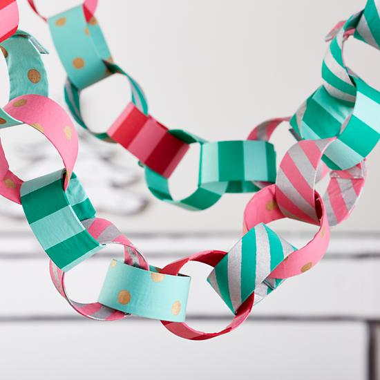 make my chain fabric garland glam - Christmas Chain Decorations